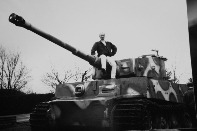 Julian atop a Tiger 1 out in Normandy
