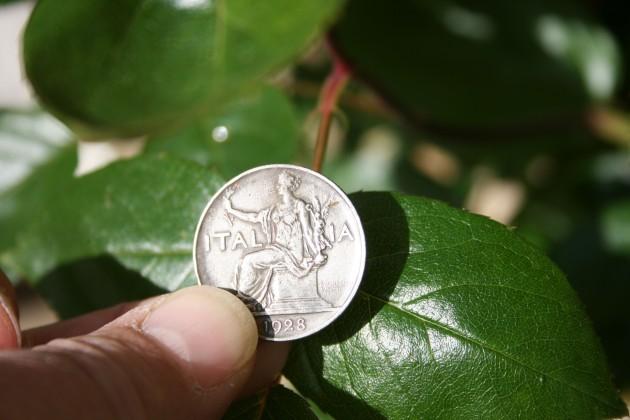 A 1928 1 Lire nickel