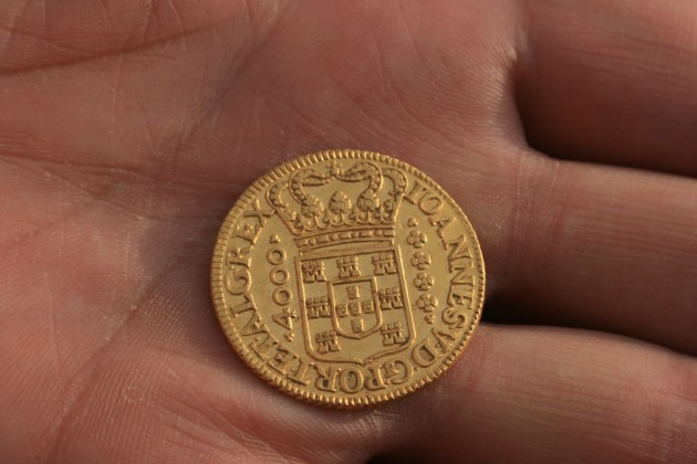 A Portuguese 4000 Reis dating from 1719